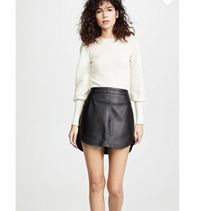 BB Dakota | Conrad Leather Mini Skirt
